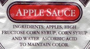 Apple Sauce Corn Syrup